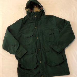 Woolrich Vintage Parka Wool Lined Coat Green L